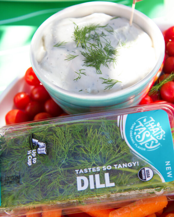 Vegetable dip with fresh dill